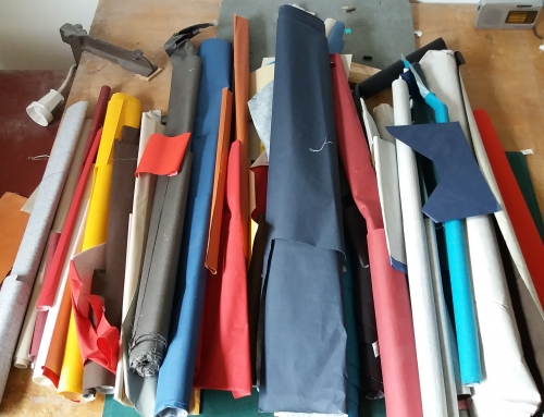 Boekbinderspers en boekbinderslinnen
