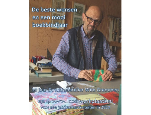 Boekbindatelier Wim Gremmen 30 jaar!